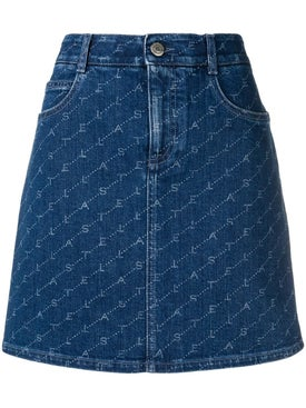 Stella Mccartney - Logo Print Denim Skirt - Women