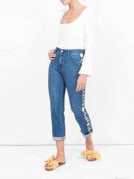 Stella Mccartney - Logo Stripe Boyfriend Jeans - Women