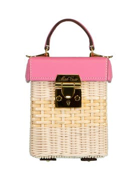 Mark Cross - Grace Cube, Flamingo Rattan - Women