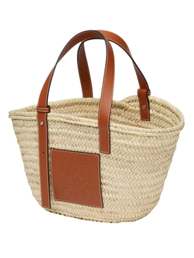 Logo basket bag