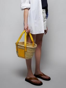 Small Classic Basket Bag Yellow