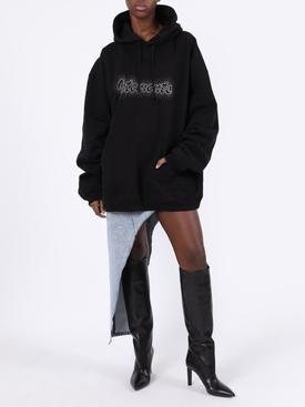 Studded logo hoodie