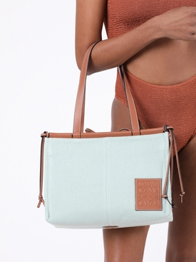 Small cushion tote bag AQUA