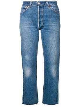 Re/done - High Rise Stove Pipe Jeans - Women