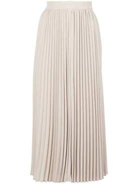 Co - Champagne Pleated Midi Skirt - Women