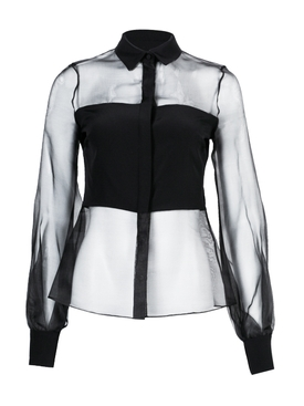 Cushnie - Sheer Black Blouse - Women