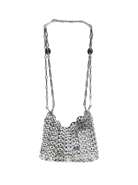Silver nano 69 chainmail bag