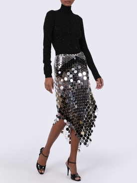 color block sequin skirt