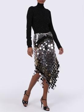 color block sequin skirt