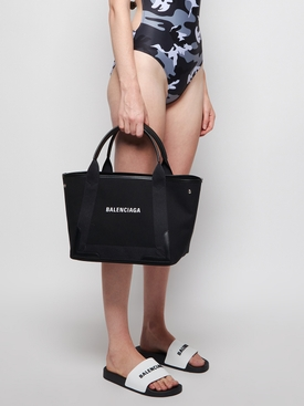 Small Cabas Top Handle Bag Black