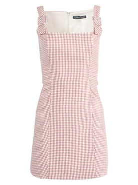 Alexachung - Cream & Red Plaid Print Mini Dress - Women
