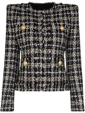 Balmain - Structured Tweed Blazer - Women