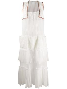 bohemian tiered ruffle dress
