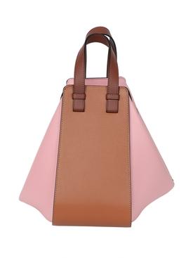 Brown and pink hammock bag