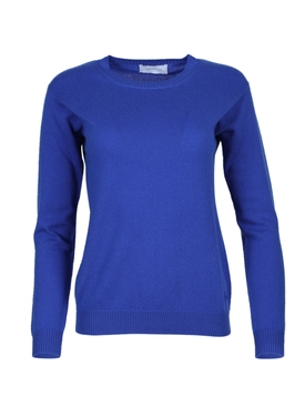 Alexandra Golovanoff - Virgile Cashmere Crew Neck Sweater Blue - Women