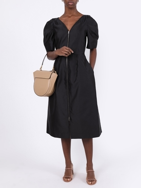 Zipped short sleeve dress black