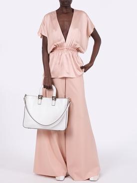 Light pink v-neck top