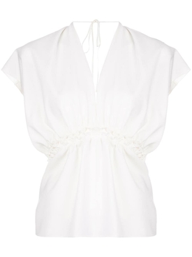 Maison Rabih Kayrouz - Off-white Fluttered Sleeve Top - Women