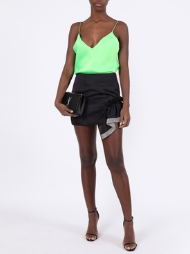 Silk acid green camisole top