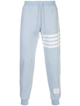 Thom Browne - Classic Striped Logo Sweatpants Light Blue - Men