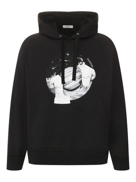 Valentino - Black And White Soul Planets Hoodie - Men