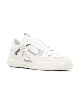 Contrasting low-top logo sneaker WHITE GREY