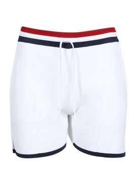 Drawstring pin-tuck shorts