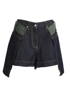 Sacai - Deconstructed Denim Shorts - Women