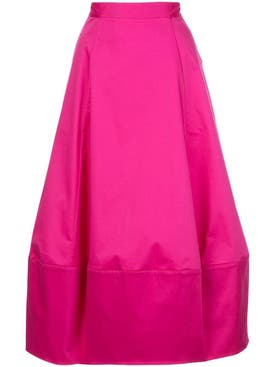Co - Pink Bubble Midi Skirt - Women