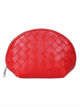 Red Intrecciato Cosmetic Case