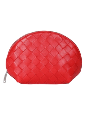 Bottega Veneta - Red Intrecciato Cosmetic Case - Women