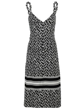 Bottega Veneta - Black And White Woven Print Dress - Women