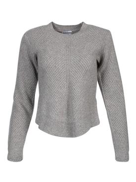 Grey chevron cashmere sweater