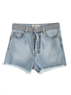 Alexandre Vauthier - Crystal Belt Denim Shorts - Women