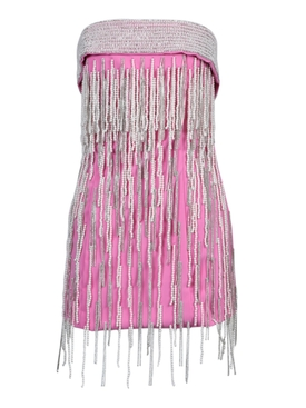 Attico - Pink Embellished Mini Dress - Women