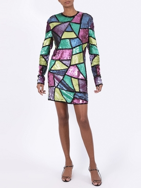geometric sequin mini dress