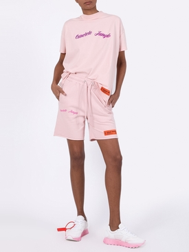 CONCRETE JUNGLE FLEECE SHORTS PINK