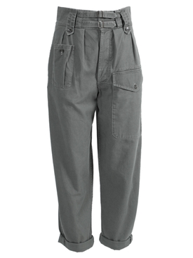 Khaki green drill cargo pants