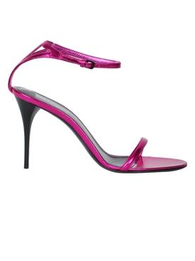 Lexi pink metallic sandal