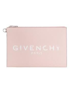 Light pink logo clutch