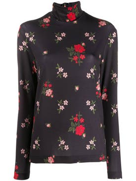 Simone Rocha - Floral Print Polo Top - Women