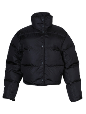 High neck puffer jacket CHARCOAL GREY