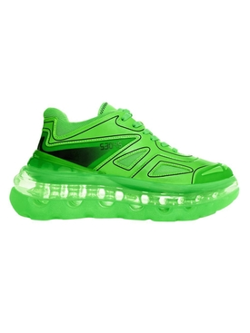 Shoes 53045 - Neon Green Bump'air Sneaker - Men