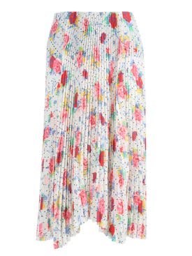 Balenciaga - Pleated Floral Kick Skirt - Women