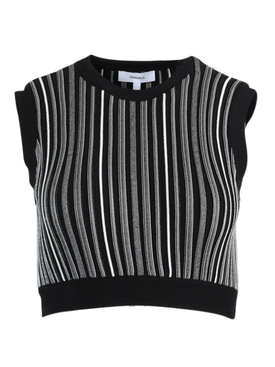 Eugenia Black and White Crop Top