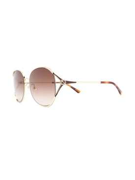 Brown tinted round sunglasses