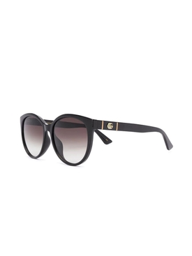 Black Round Cat-Eye Sunglasses