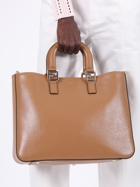 Medium top handle FF tote CAMEL