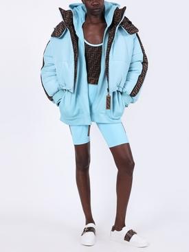 FF reversible puffer jacket LIGHT BLUE