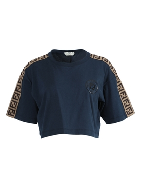 Fendi - Ff Logo Crop Top Navy - Women
